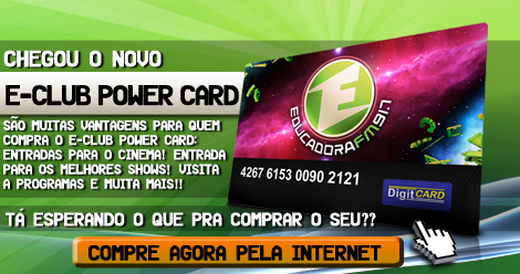 VENDA ECLUB POWER CARD PELA INTERNET